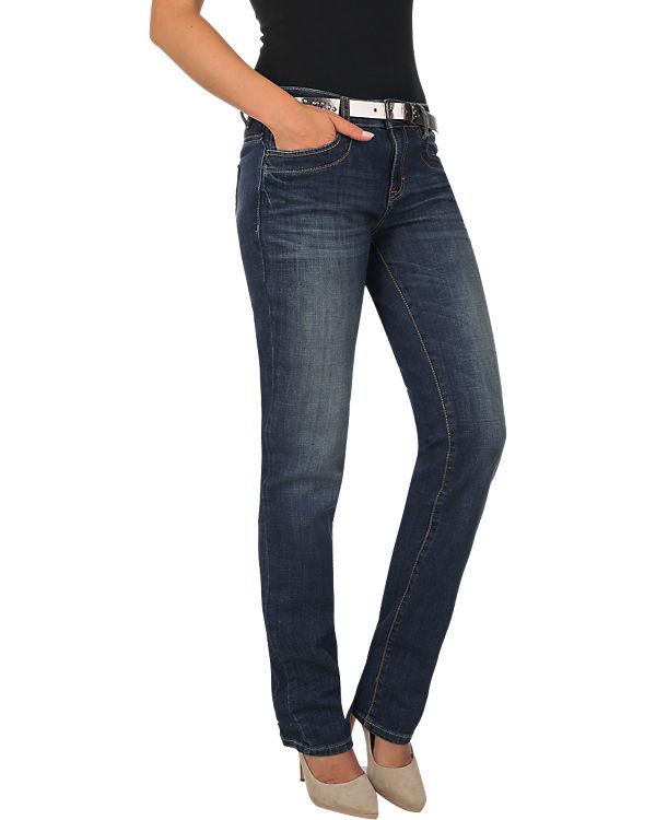 TOM TAILOR Jeans Alexa Straight mit Gürtel denim