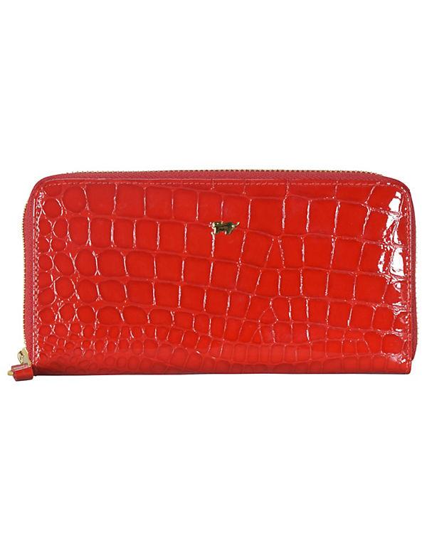 Braun Büffel Braun Büffel Glanzkroko Geldbörse Leder 18,5 cm rot