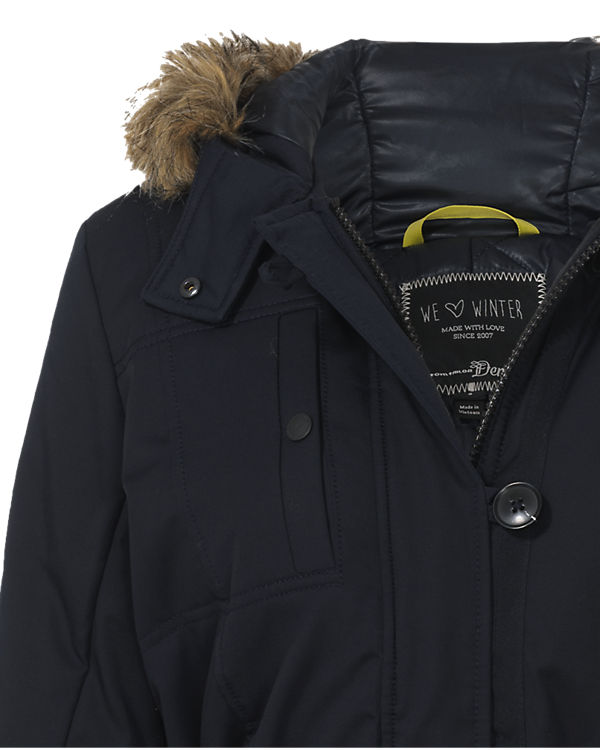 TOM TAILOR Denim Parka dunkelblau