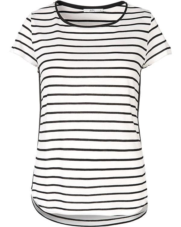 edc by ESPRIT T-Shirt schwarz/weiß