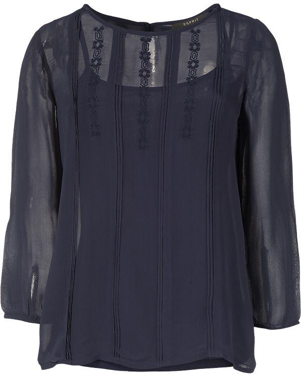 ESPRIT collection Bluse dunkelblau