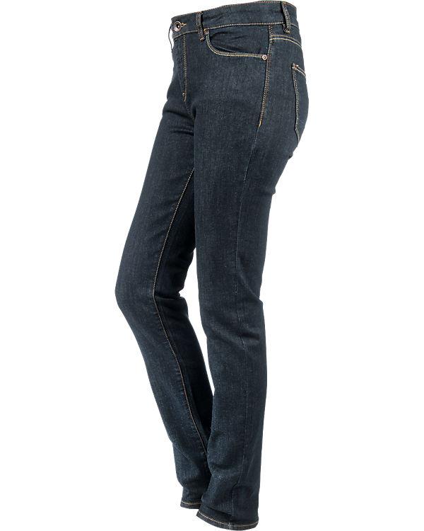 Rise ESPRIT Straight dark denim blue Medium Jeans qttwr7