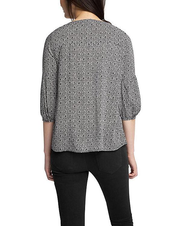 ESPRIT Bluse schwarz/weiß