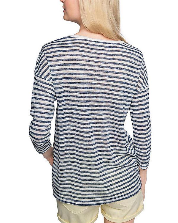 ESPRIT Shirt weiß Arm blau 4 3 pTqwrpO