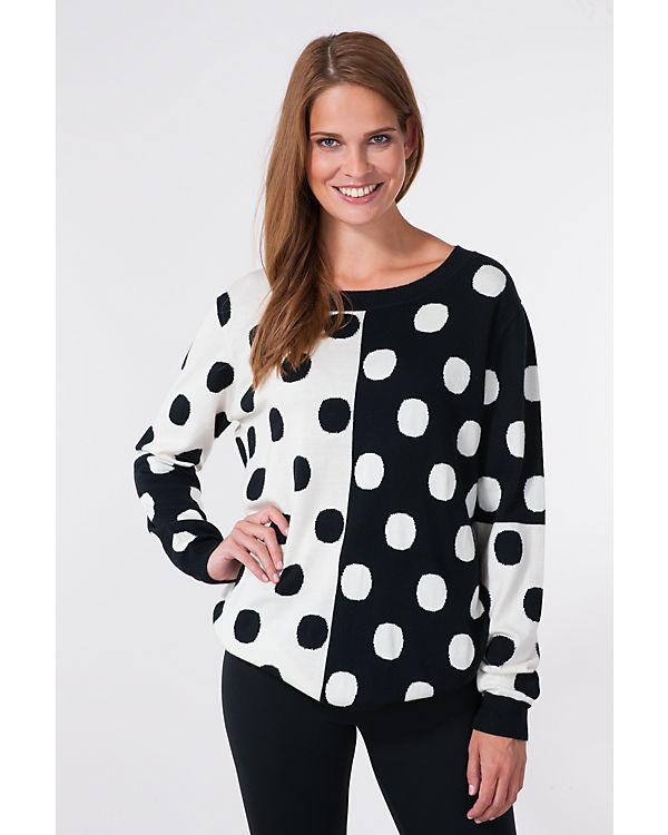 nümph Pullover schwarz/weiß