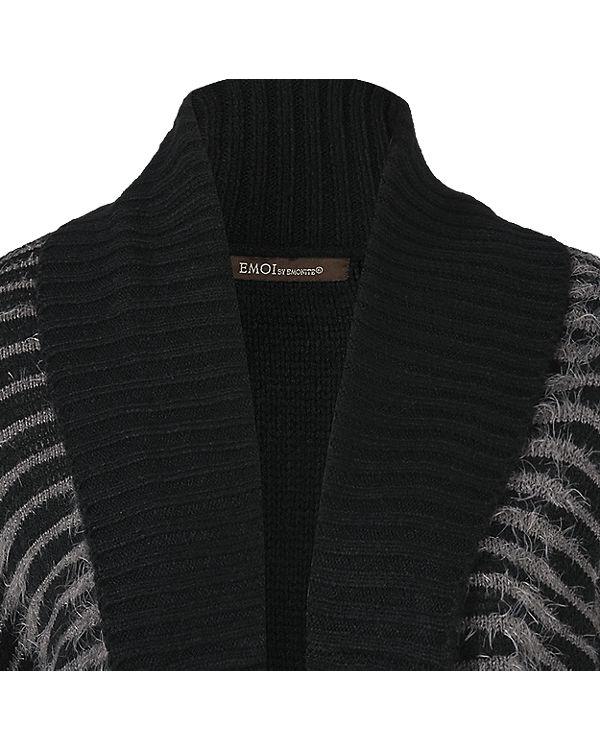 EMOI Strickjacke schwarz/grau