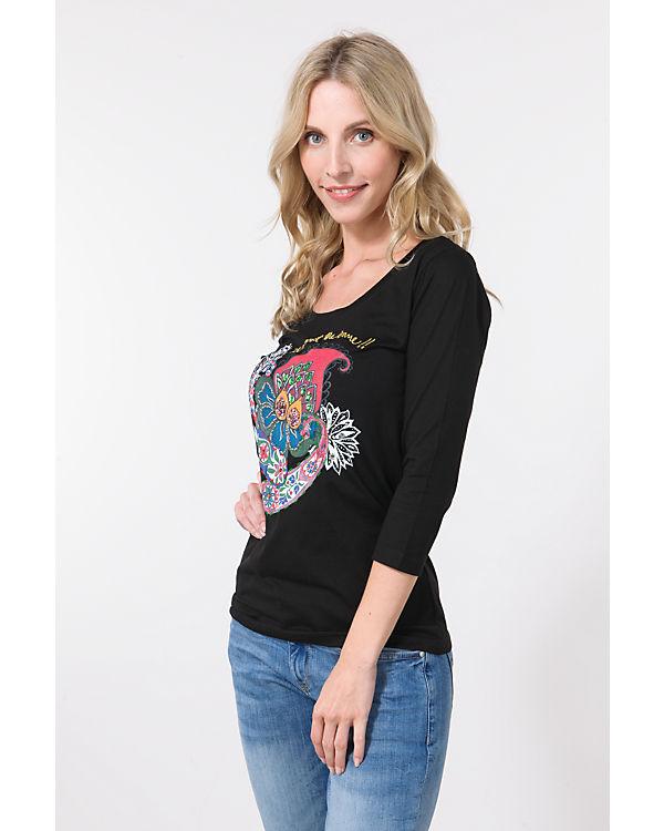 Desigual 3/4-Arm-Shirt schwarz-kombi