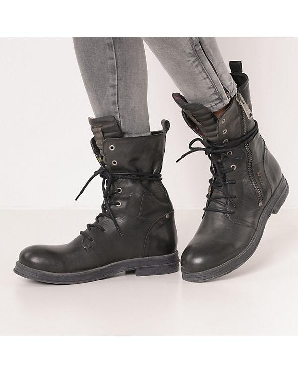 REPLAY, EVY Biker Boots, schwarz schwarz schwarz 423621