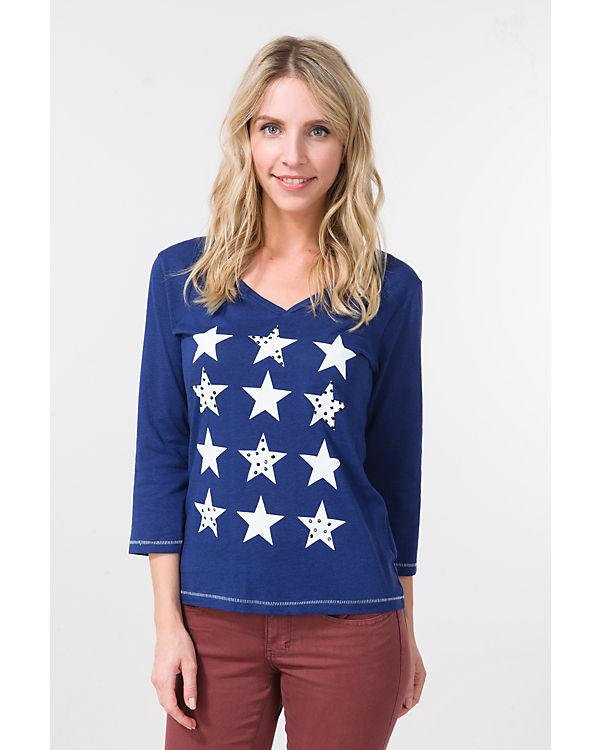 blue 4 3 Arm Shirt blau qXXwrZRx