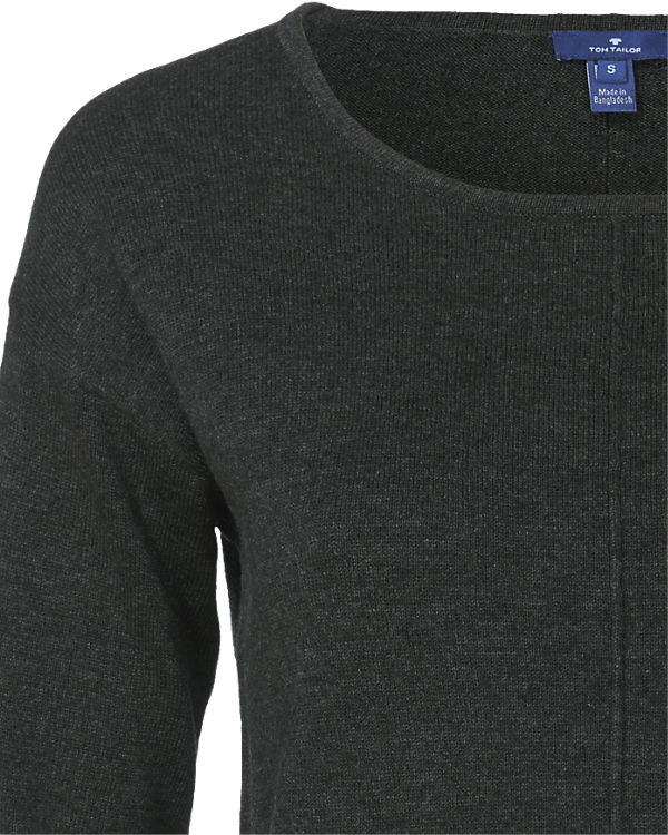 TOM TAILOR Pullover schwarz