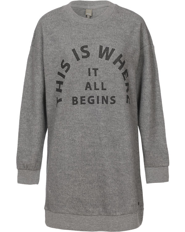 BENCH Sweatshirt hellgrau