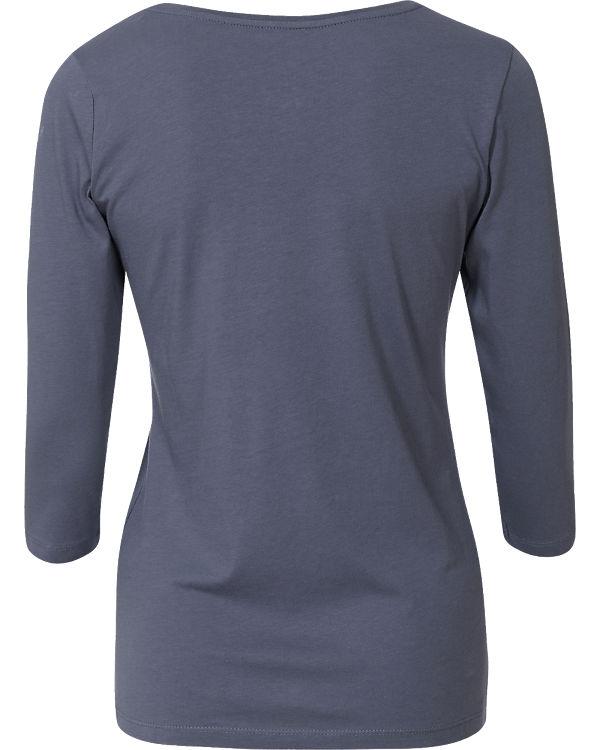 TOM TAILOR 3/4-Arm-Shirt blau