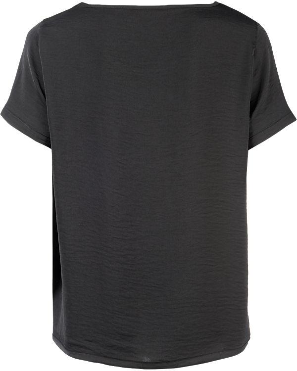 VILA Blusenshirt schwarz