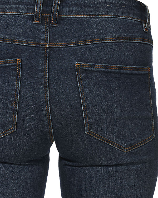 VILA Slim denim blue dark Jeans rUPZwHrq
