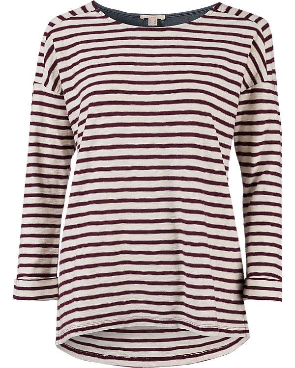 ESPRIT Sweatshirt rot/weiß