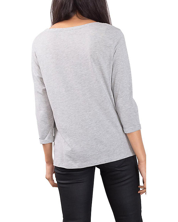 ESPRIT 3/4-Arm-Shirt hellgrau
