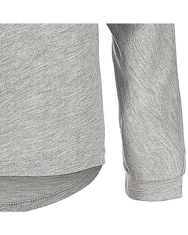 BASEFIELD Oversize Langarmshirt grau