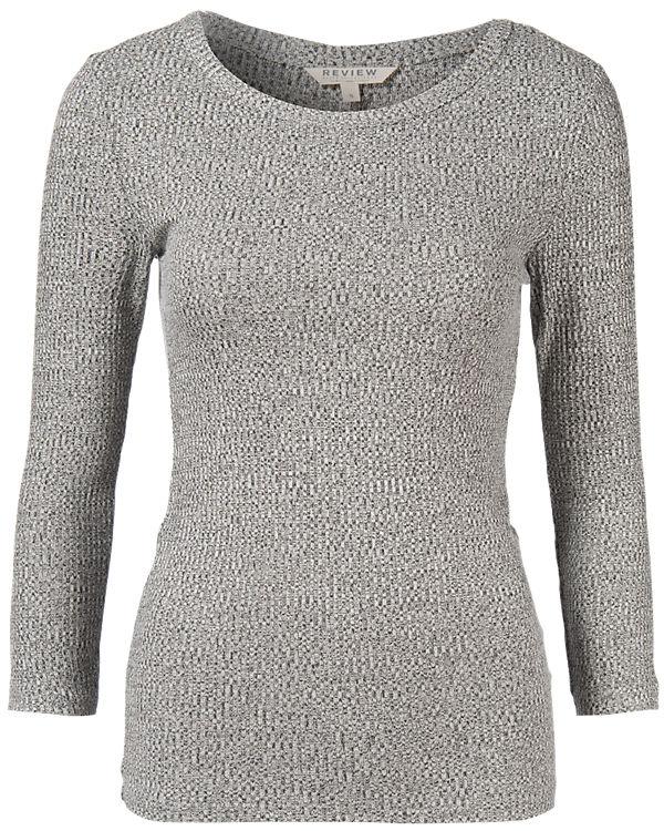 REVIEW 3/4-Arm-Shirt grau