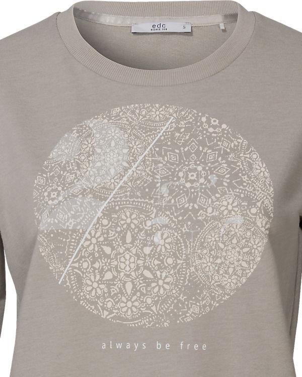 edc ESPRIT edc by hellgrau Sweatshirt ESPRIT by qwUEa8