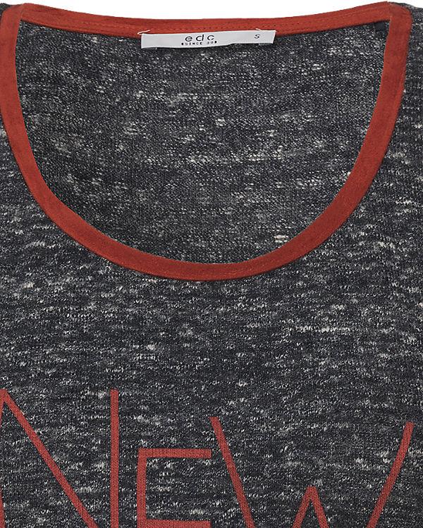 edc by ESPRIT T-Shirt grau