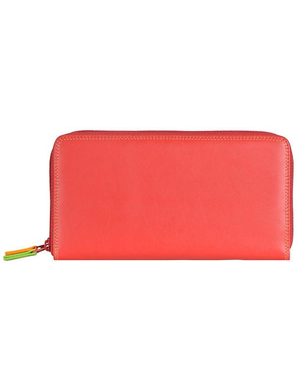 Mywalit Mywalit Large Double Zip Around Purse Geldbörse Leder 18 cm mehrfarbig