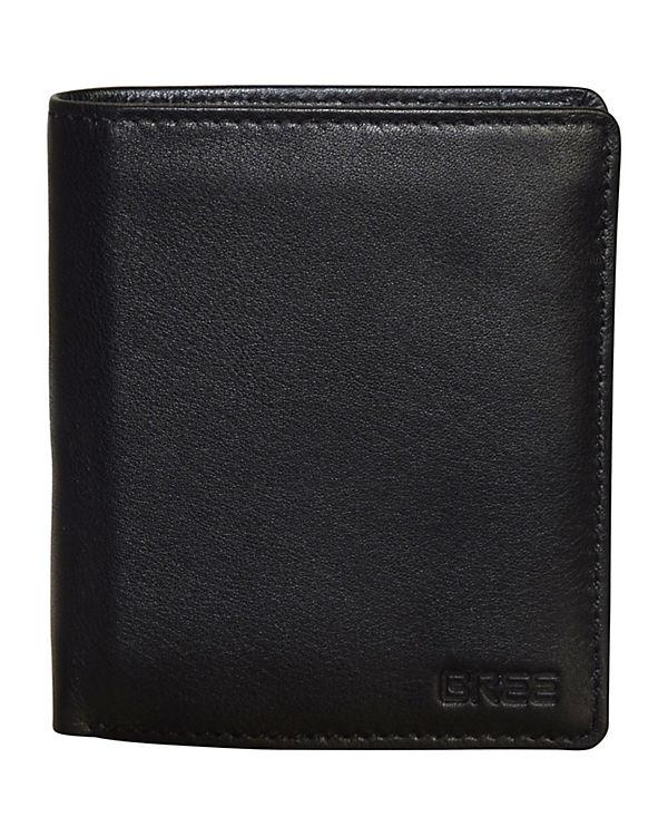 Bree Bree Pocket 115 Geldbörse Leder 10 cm schwarz