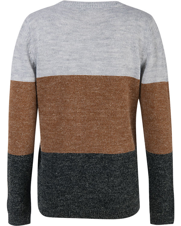 ICHI Pullover grau/braun