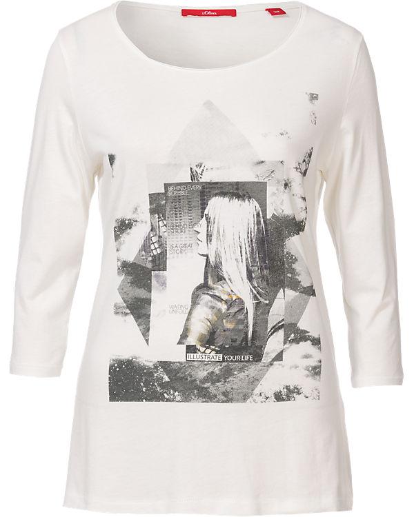 s.Oliver 3/4-Arm-Shirt creme