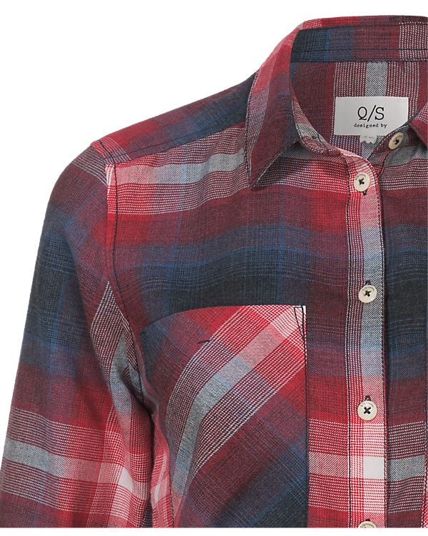 Q/S Bluse blau/rot