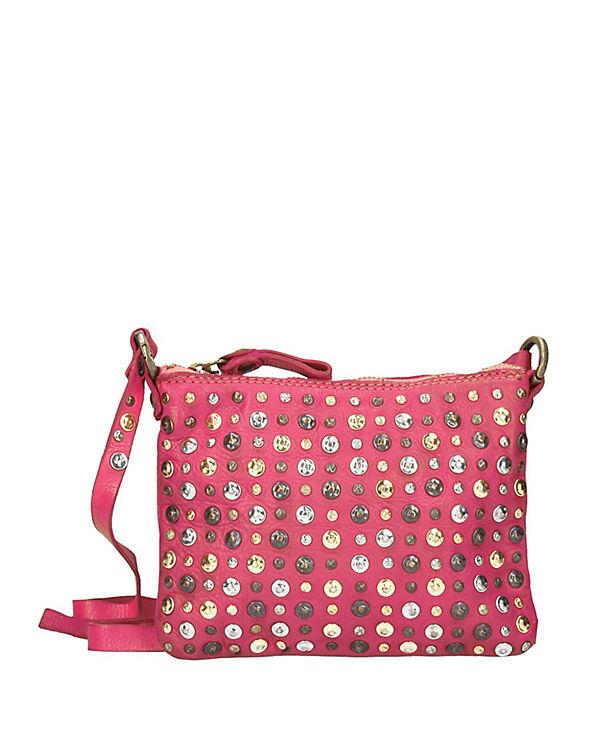 Campomaggi Campomaggi Istanbul Umhängetasche Leder 20 cm pink