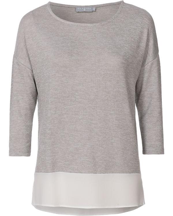 IN LINEA Pullover weiß/grau