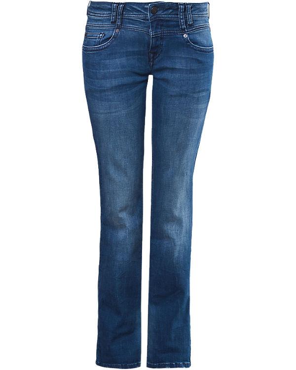 Q/S Jeans Catie Straight dark blue denim