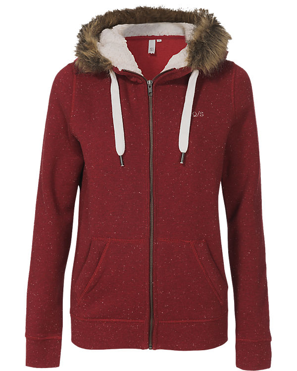 Q/S Sweatjacke bordeaux