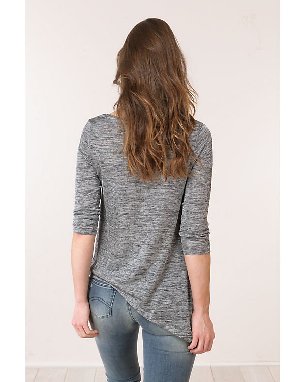 TOM TAILOR Denim 3/4-Arm-Shirt grau