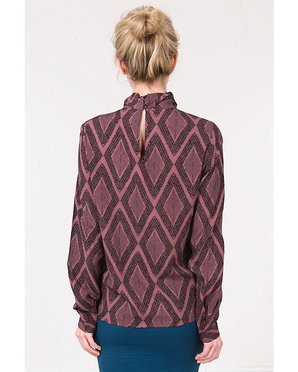 CULTURE Bluse schwarz/rot