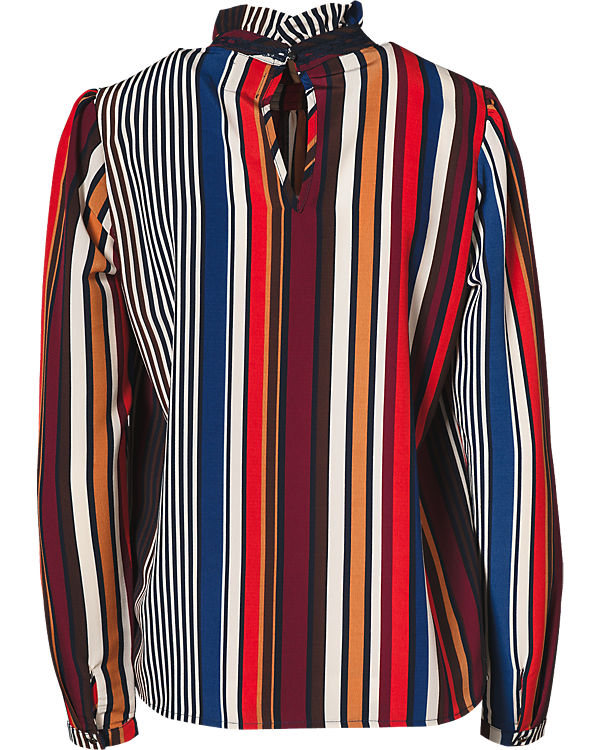 CULTURE Bluse rot/weiß