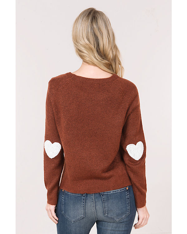 ONLY rot ONLY Pullover Pullover braun rot EPHOqYxP