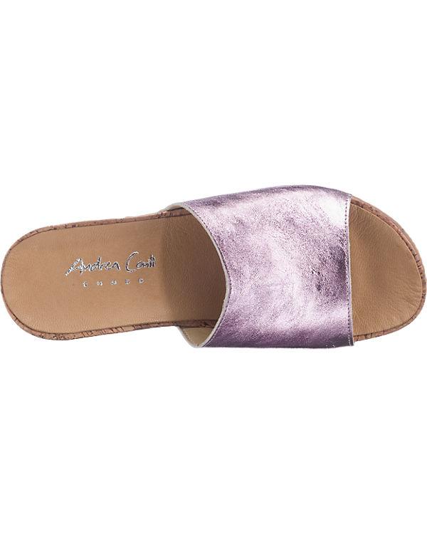 Andrea Conti Andrea Conti Pantoletten rosa