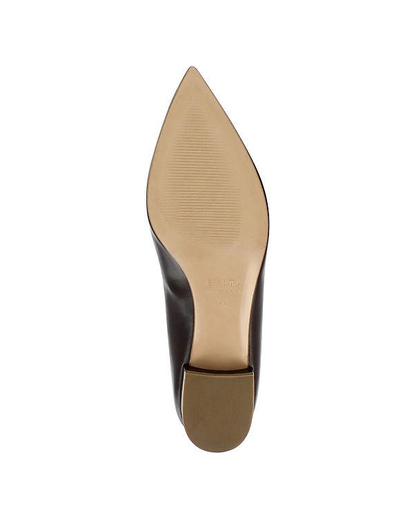 Shoes Evita Evita Slipper dunkelbraun Shoes 1O6Rqw