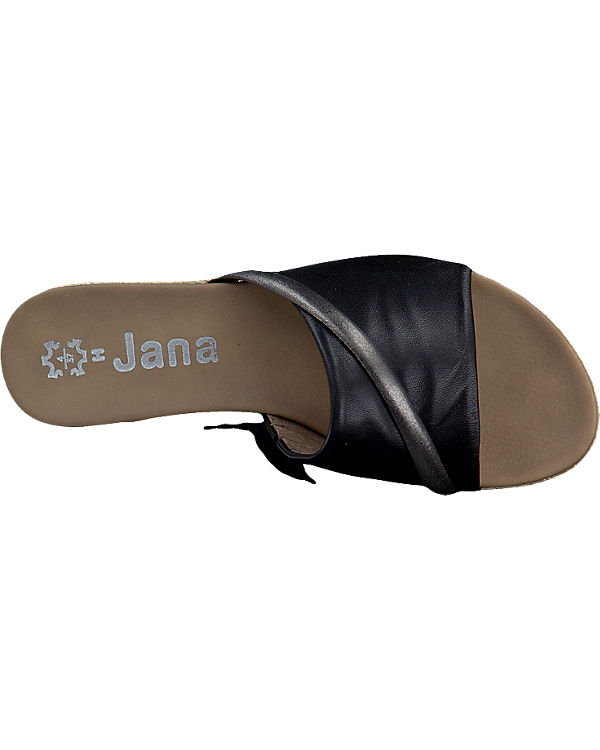 Jana Jana Pantoletten schwarz
