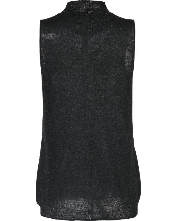 nümph Kurzarmpullover schwarz
