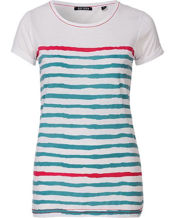 blue T-Shirt weiß-kombi