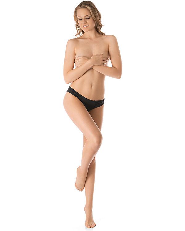 Skiny Bikini Slip Ocean Love schwarz