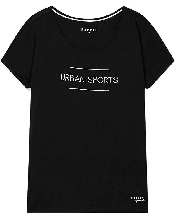 ESPRIT Sports T-Shirt schwarz
