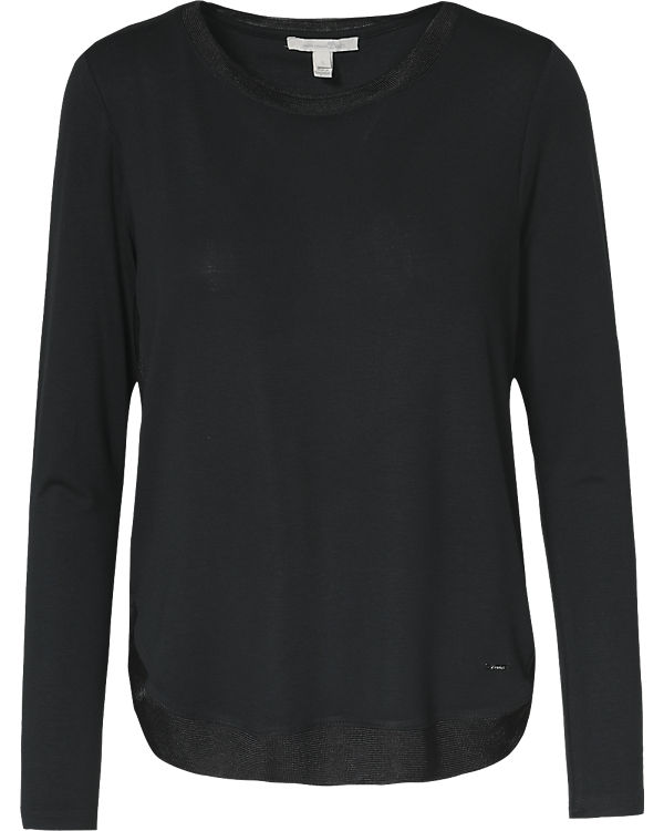 TOM TAILOR Denim Langarmshirt schwarz