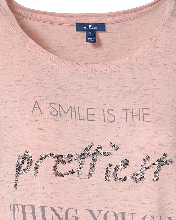 Arm TOM TAILOR Shirt 4 3 rosa xYAwYS