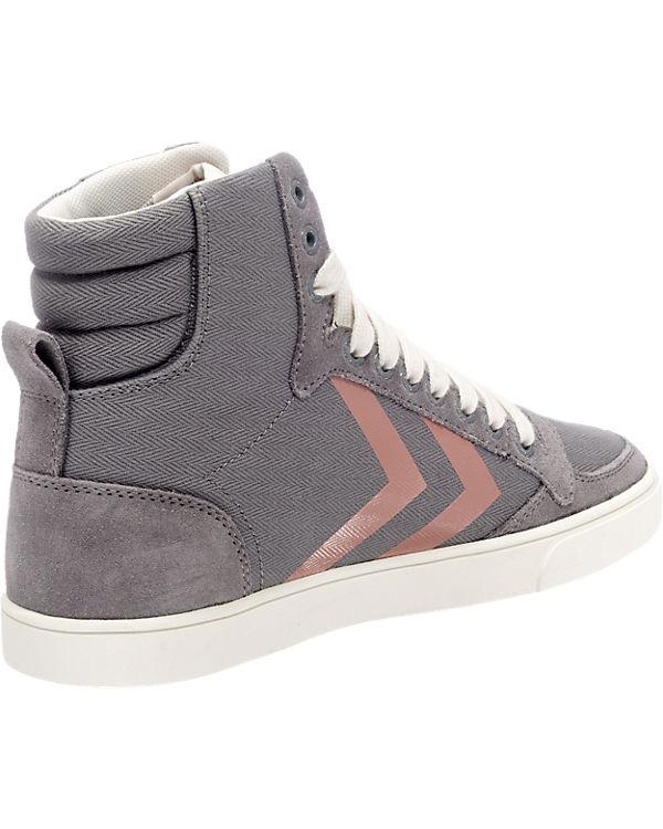 hummel hummel Slimmer Stadil Herringbone High Sneakers grau-kombi