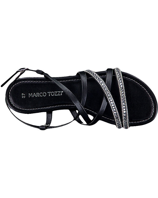 marco tozzi marco tozzi eder sandaletten schwarz ambellis. Black Bedroom Furniture Sets. Home Design Ideas