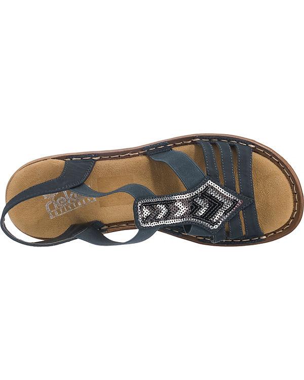 blau rieker Sandalen York New Komfort x60xqHag