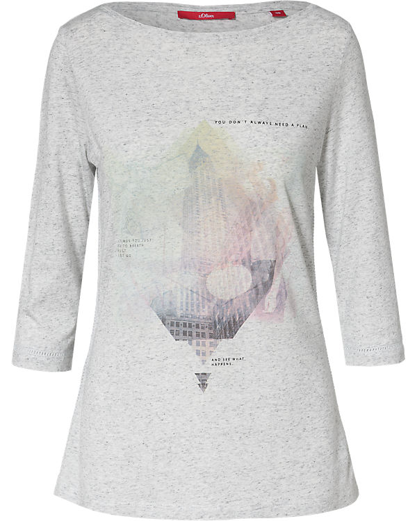 Shirt 3 s Oliver grau 4 Arm wTwIqB